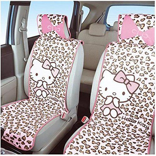 Two Pieces Of Hello Kitty Seat Cover For The Front Pink Leopard Sanrio Online Shop