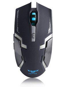 TONPAR à la charge avec la batterie au lithium 2,4 GHz souris de jeu optique sans fil ergonomique pour PC portable , weiß