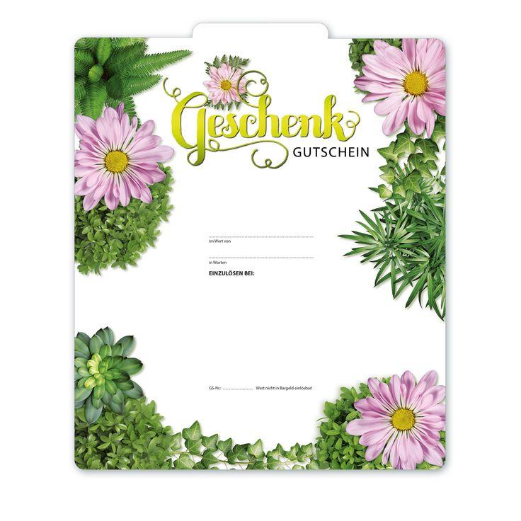 Bestell-Nr. BL241, Multicolor-Geschenkgutscheine für den Blumenhandel!