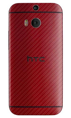 Make your new HTC One (m8) your own with a Red Carbon Fiber Slickwrap available now at www.slickwraps.com!
