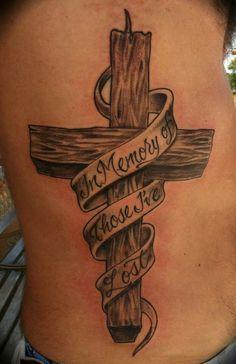 In memory Cross Tattoo