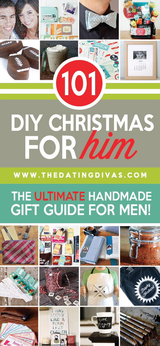 The perfect list of DIY Christmas gifts for him. I'm sure I'll find something for my hubby here! www.TheDatingDivas.com #christmasgifts #giftsforhim