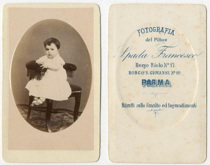 BIMBA CDV 833 Foto F.Gabinetto.Carte da Visite.Albumina.Spada Francesco Parma