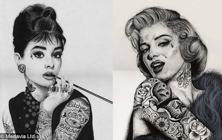 Audrey Hepburn and Marilyn Monroe with tattoos | My Style ...
