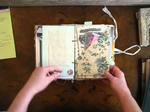 This Woman does really COOL Junk Journals. **In the Beginning of this Video . . . Check out the way she makes a Stack of old random Books into a Decoration.