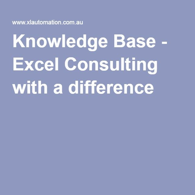 Excel Solutions - Search for solutions, topics, or submit a support ticket for response by our Excel Consulting team.