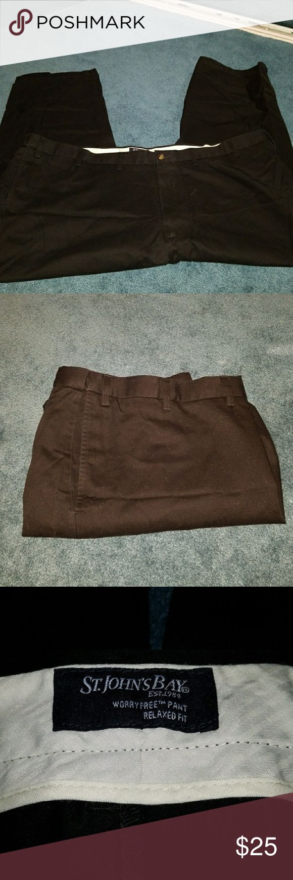 St. John's Bay pants (Big & Tall) St. John's Bay WorryFree Relaxed Fit pants add extra inches to your waist to provide supreme comfort. St. John's Bay Pants