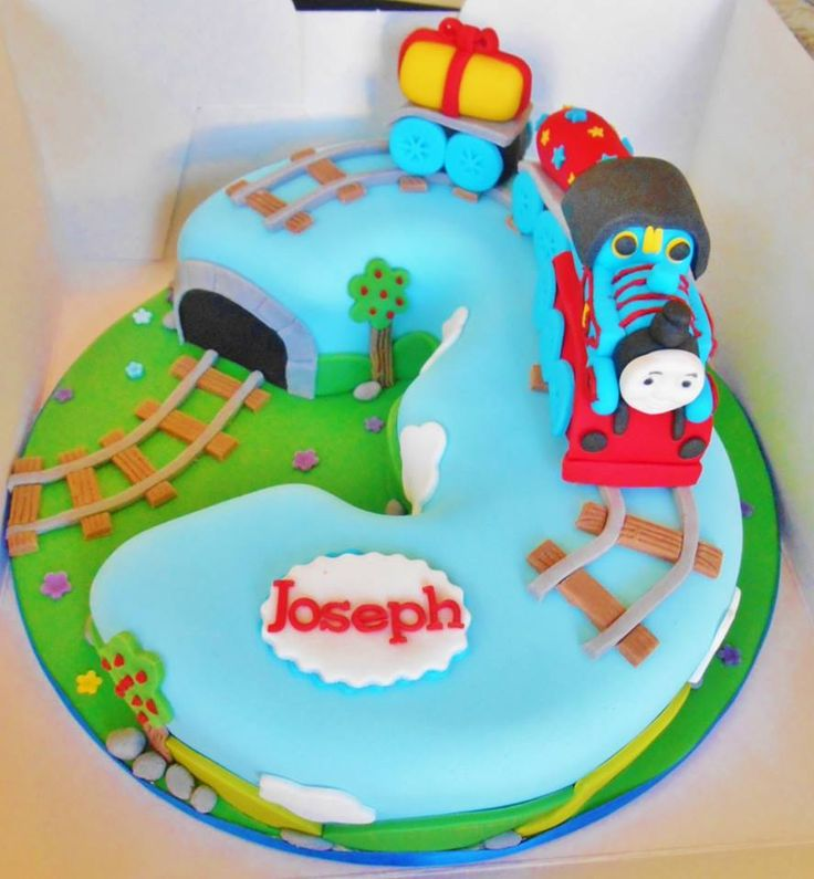 Thomas the tank engine number 3 cake Sam Cake ...