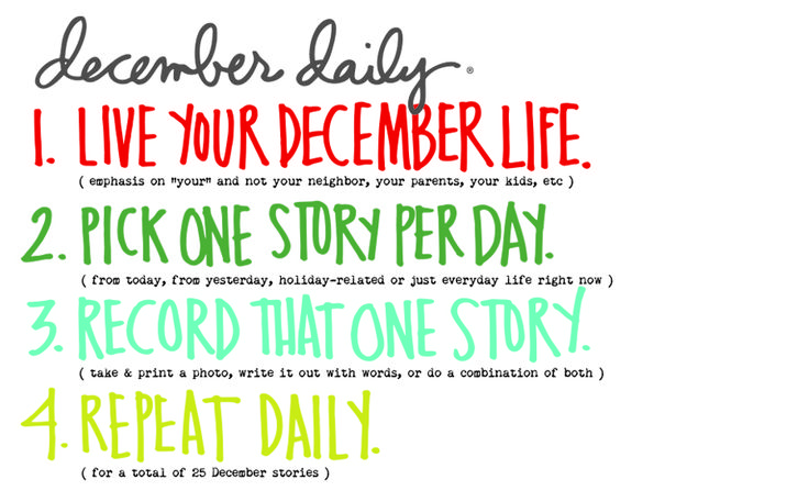 December Daily® 2016 | Let's Begin