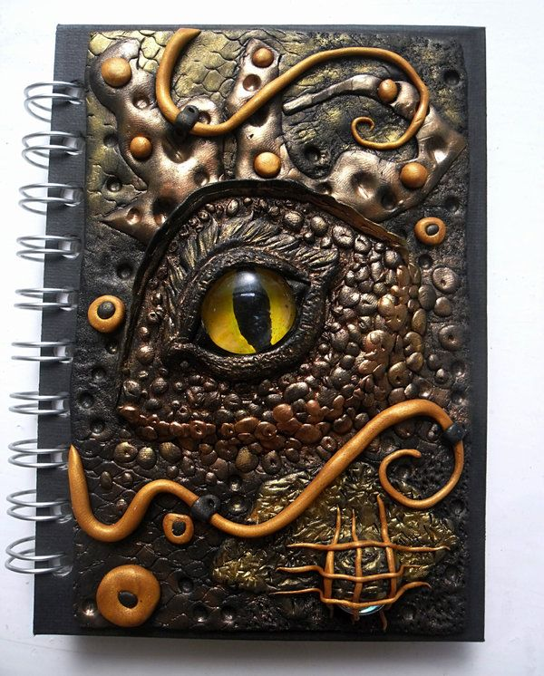 Gold and black dragon Journal/Diary by MyPolyCraft on deviantART