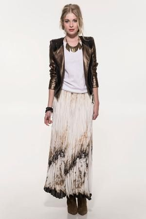 Love the long skirt with the jacket by Superstar
