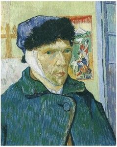 Read about theories of Vincent van Gogh's Ear  Self-Portrait with Bandaged Ear