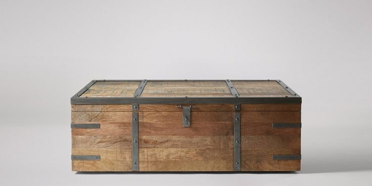 Maya Wooden Blue Trunk | Swoon Editions