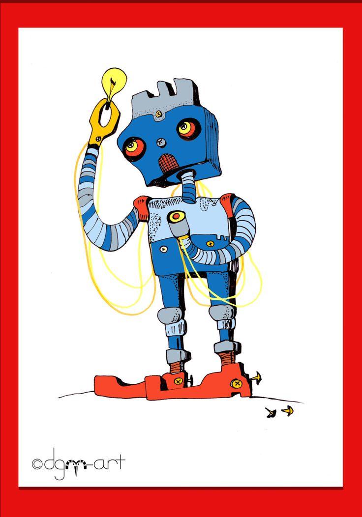 ROBOT- Picture for boys / Robot Art Print / room decor, outer space art, robot pictures, kid's space art, kids room robot decor, baby decor by dgmart on Etsy https://www.etsy.com/dk-en/listing/163779677/robot-picture-for-boys-robot-art-print