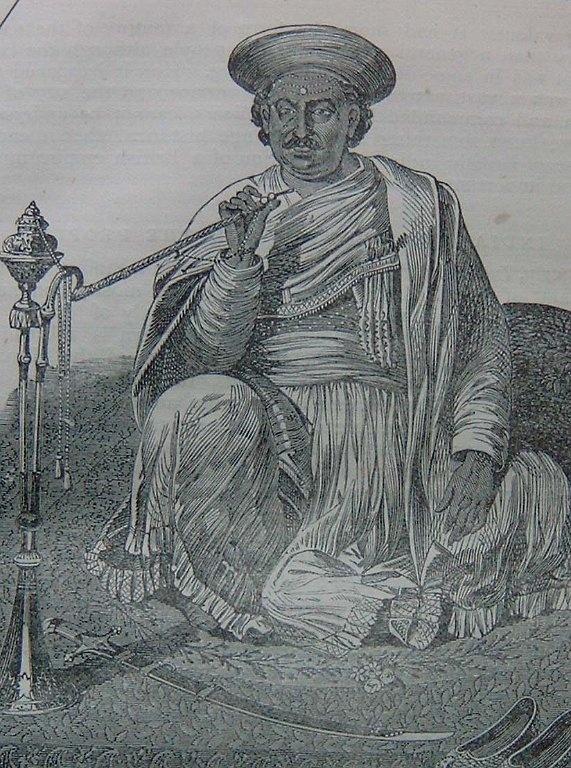 NANA SAHIB\  Source: Charles Ball, History of the Indian Mutiny, 1860