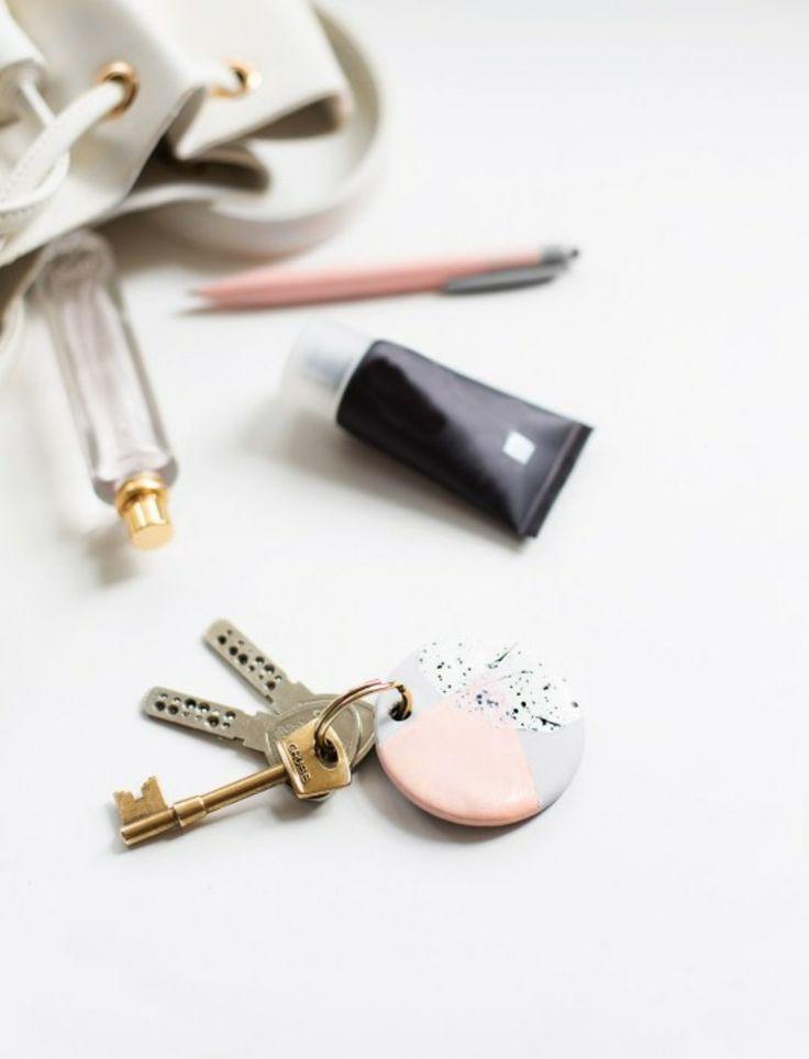 porte clé bricolage objet deco design diy tutoriel argile idee