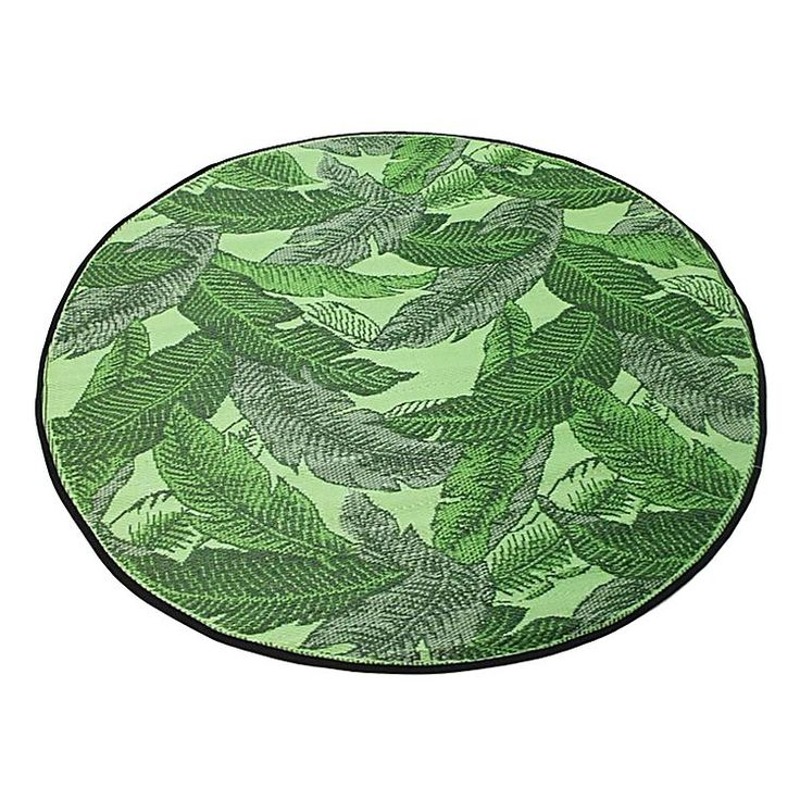 Indulge In A Lush Look For Your Lounge E With The Durable Banana Leaf Round Outdoor Rug Green From Stoneleigh Housey Bits Pinterest