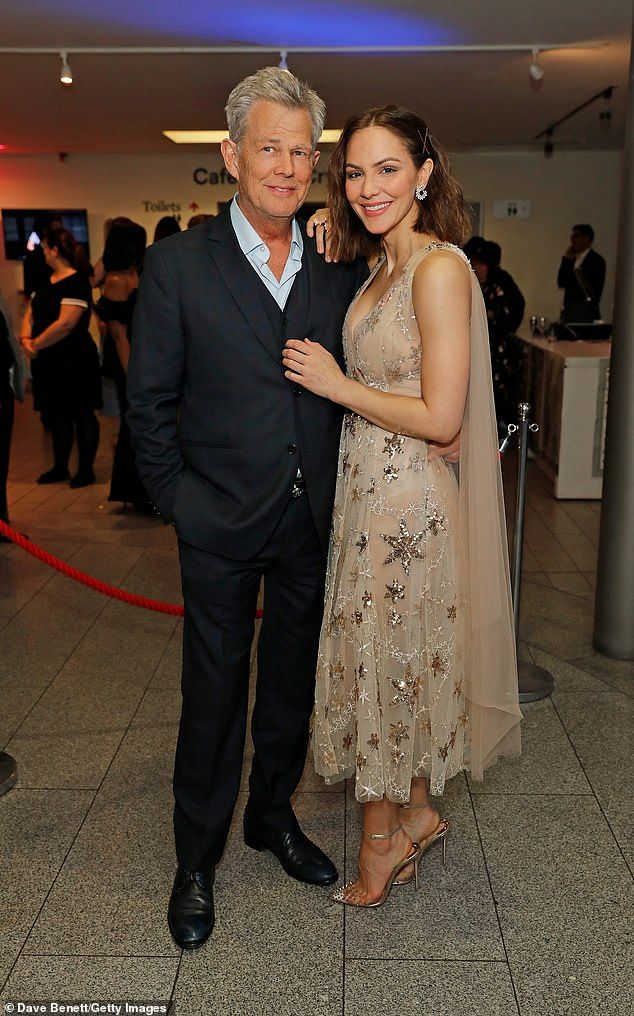 Katharine Mcphee With Fiance David Foster At Waitress Press Night Born Dress Star Dress Katharine Mcphee