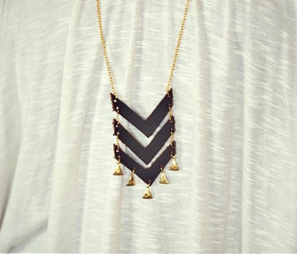 Triple Chevron Necklace, Moorea Seal