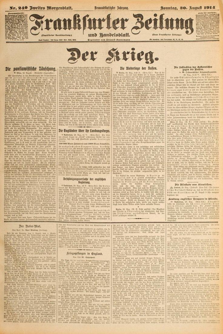 Bild zu: Historisches E-Paper: 30.08.1914: Die panslawistische Täuschung - Bild 1 von 1 - FAZ