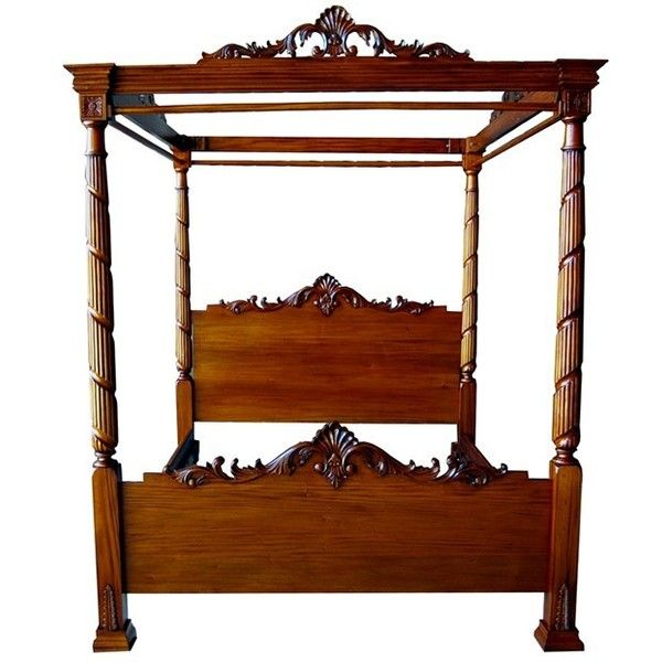 mid mahogany lincoln four poster bed 7460 dkk liked on polyvore featuring - Gotische Himmelbettvorhnge