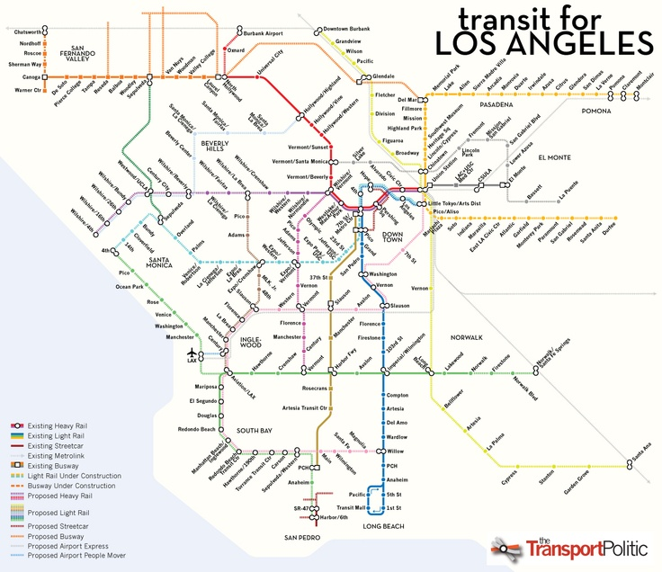 hypothetical LA rail map