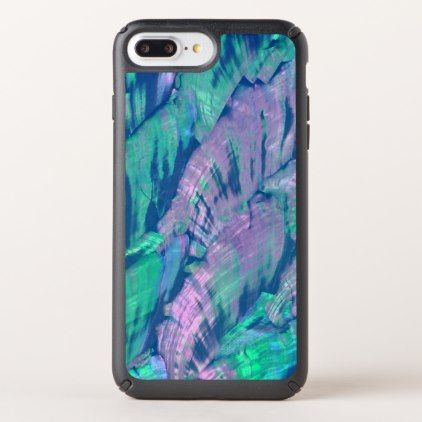 Elegant Faux Pink Turquoise Abalone Shell Pattern Speck iPhone Case - marble gifts style stylish nature unique personalize