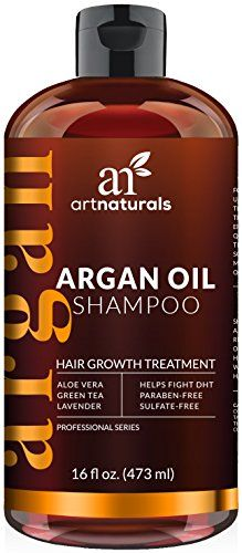 Art Naturals Organic Argan Oil Hair Loss Shampoo for Hair Regrowth 16 Oz  Sulfate Free  Best Treatment for Hair Loss Thinning &  Growth Product For Men & Women  Infused with Biotin  2016