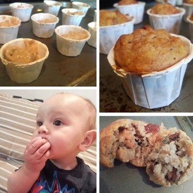 Banana, Apple & Cinnamon Muffins Baby Led Weaning Recipes from peanutdiaries.com