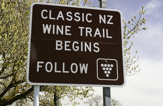 Classic New Zealand Wine Trail road sign by The Classic New Zealand Wine Trail, via Flickr