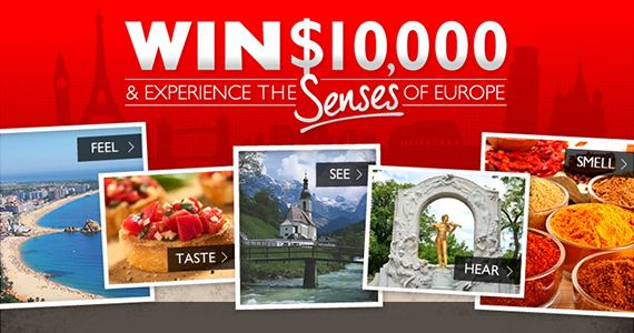 Contest to Win a $10,000 Trip To Europe