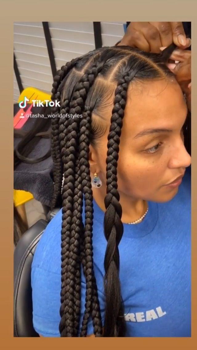 Thehairkulture On Instagram Pretty Knotless Big Braids You Like Credit Tasha Worldofstyles Palo Big Braids Healthy Hair Journey Curly Hair Styles
