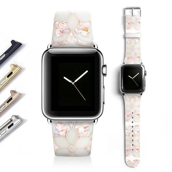 Floral Marble Apple watch band women Apple watch strap