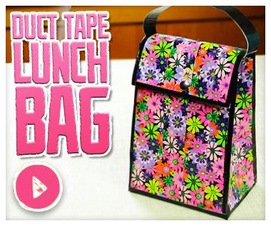 Duct tape on Do It, Gurl – a duct tape lunch bag