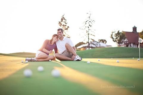 Golf Engagement Photos @Amanda Snelson Snelson Snelson Walker