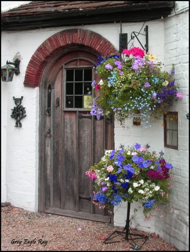 Cottage Door in Bloom