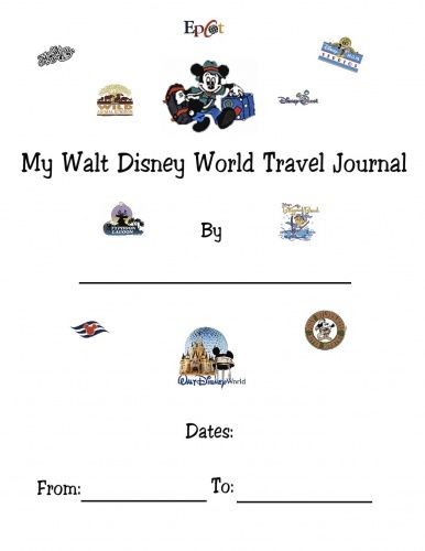 Disney Trip Journals -Gonna have to print these off for the girls to use. We will all love looking back on them years from now!