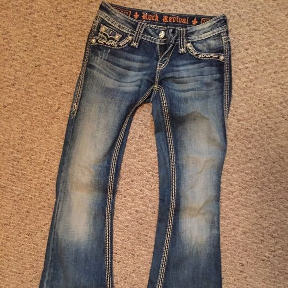 Rock Revival Jeans Awesome rock revivals! Only worn a couple times! Rock Revival Jeans Flare & Wide Leg