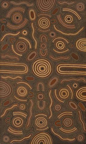 Aboriginal Art Painting 97L005, Cowboy Louie Pwerle, 1997