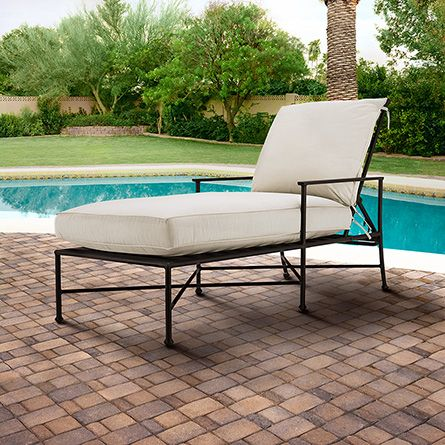 Santorini Outdoor Chaise with Cushion in Canvas - 33 Best Images About Outdoor Living... On Pinterest Sundial