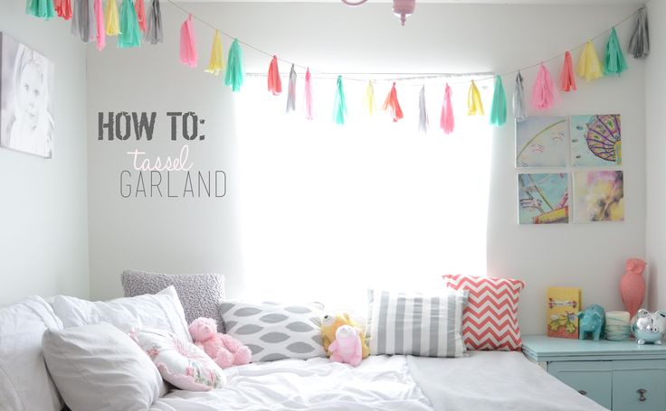Pillow Thought: DIY Tassel Garland. For Alanna's room