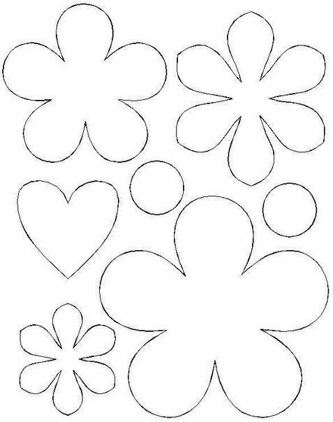 Цветы для открытки трафареты, днем