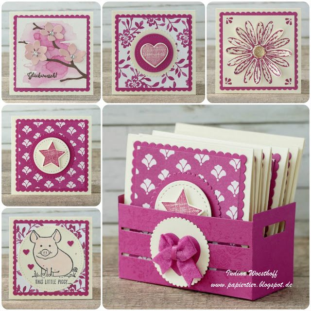 Kreativkiste   Stampin' Up!   papiertier Indina   Mini Card Set   In Colors 2017   DIY