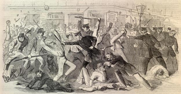 10 Worst Race Riots in American History - The New York City Draft Riots (1863): This riot was undertaken almost entirely by the Irish immigrant population in retaliation for the Union's institution of the draft following Gettysburg.