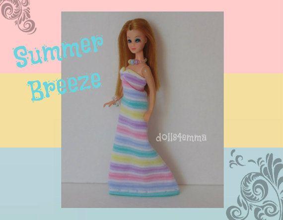 Topper DAWN Doll kleding - Summer Breeze jurk en sieraden - aangepaste Fashion door dolls4emma
