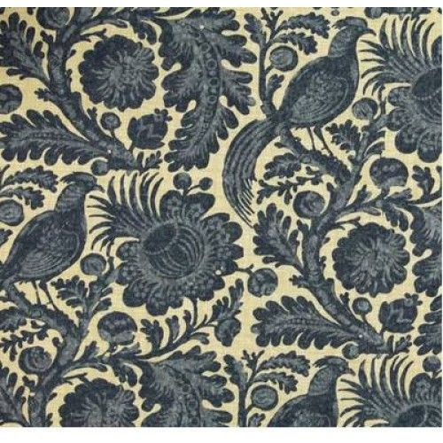 Tuckers Daughter Chambray Floral Outdoor Fabric | Fabric Traders