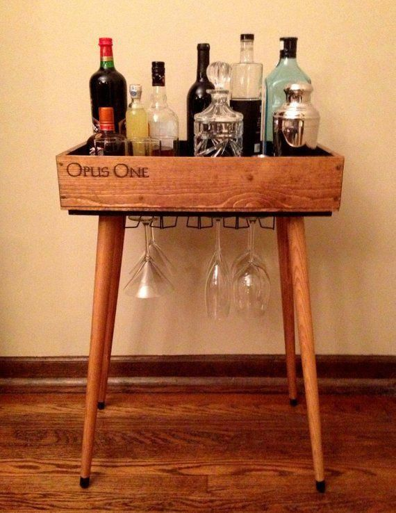 Opus Open Bar Wine Box Bar Table In 2019 Boys Wine Crate Table