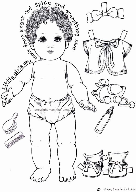 Baby Doll Coloring Page Inspirational Unavailable Listing On Etsy Paper Dolls Paper Dolls Printable Baby Coloring Pages