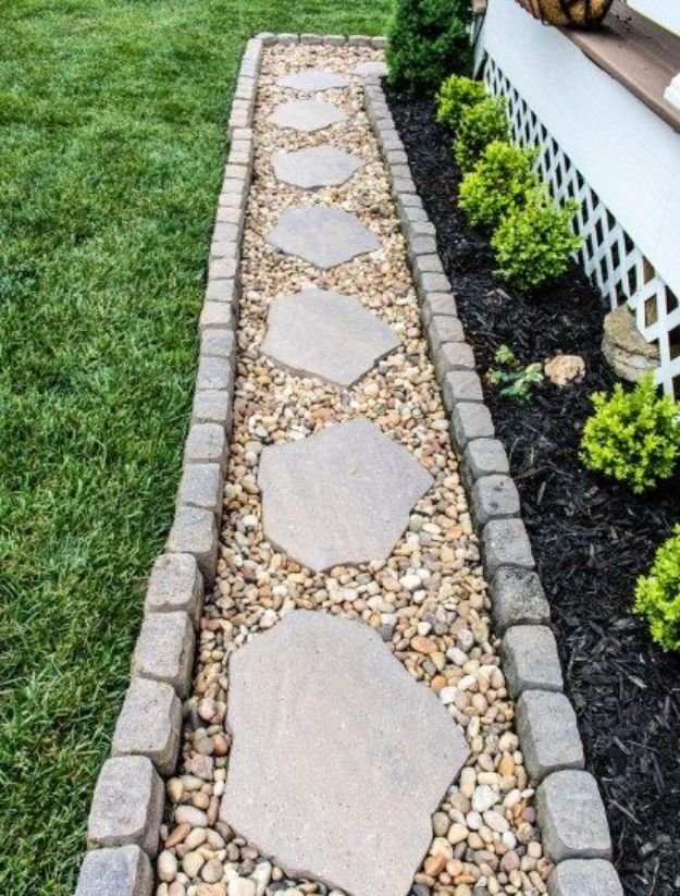 DIY Walkways – DIY Garden Paver Walkway – Do It Yourself Walkway Ideas for Paths…