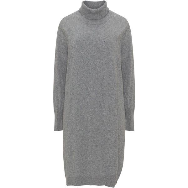 Adia Grey Plus Size Lurex effect layered knit dress ($76) ❤ liked on Polyvore featuring dresses, grey, plus size, women plus size dresses, gray long sleeve dress, knee length dresses, plus size dresses and long sleeve glitter dress